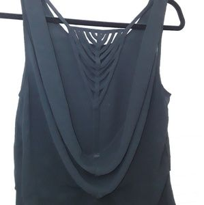 San Joy Black Camisole Top Woman's Low Back Sexy